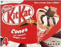 Nestle Kit Kat Ice Cream Cones (4x125ml) | Compare Prices, Buy Online | mySupermarket