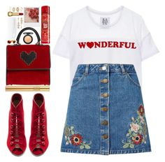 """""""#1049 Blanche"""" by blueberrylexie ❤ liked on Polyvore featuring Zoe Karssen, Miss Selfridge, Les Petits Joueurs, Gianvito Rossi, Yves Saint Laurent, Disney, Henri Bendel, Topshop and EF Collection"""