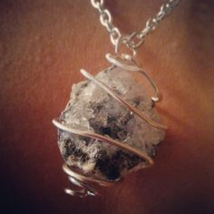 Crystal quartz wire wrapped geode necklace   Check out this item in my Etsy shop https://www.etsy.com/listing/204272817/beautiful-handcut-crystal-quartz-geode