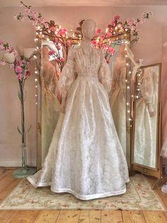 Edwardian lace wedding dress with a high neck blouse and silk skirt : Edwardian lace wedding dress with a high neck blouse and silk skirtJoanne Fleming Design Bridal Skirts, Wedding Skirt, Dream Wedding Dresses, Bridal Gowns, Wedding Gowns, Edwardian Wedding Dresses, Wedding Hijab, Flapper Dresses, Wedding Lace