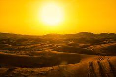 Desert sunset in Dubai