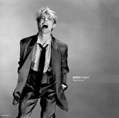 English musician David Bowie is photographed in 1983 in Los Angeles, California.