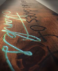 Wood Sign - engraved - paint inlay