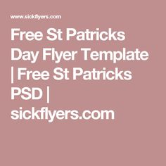 Free St Patricks Day Flyer Template | Free St Patricks PSD | sickflyers.com