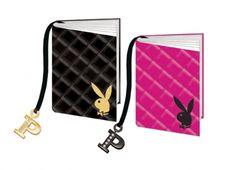PLAYBOY QUILTED A6 NOTEBOOK 2 VERSIONI  Notebook con copertina in tessuto trapuntato-nei colori nero e rosa