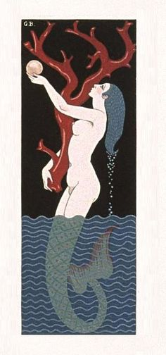 Cover illustration by Georges Barbier for Vies Imaginaires (Imaginary Lives) by Marcel Schwob, 1929