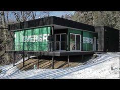 Shipping Container Cabin, Alaska - YouTube