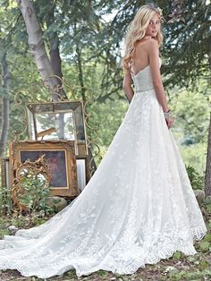 """""""Luna"""" by Maggie Sottero A completely romantic and breathtaking look for the simple ballgown bride. www.countrybridals.com"""