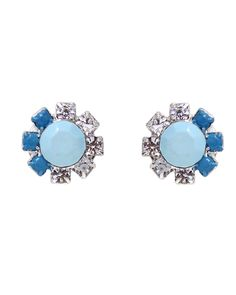 The Blue Ombre Studs by JewelMint.com, $20.00