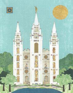Salt Lake City, Utah LDS Temple Print