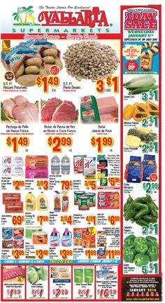 Vallarta Weekly Ad Flyer January 6 - 12, 2016 - http://www.olcatalog.com/grocery/vallarta-weekly-ad-fleyer.html