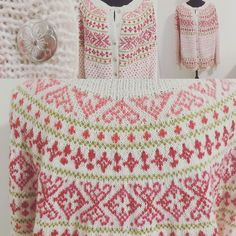 Valdreskofte Fair Isle Knitting Patterns, Fair Isle Pattern, Knitting Charts, Lace Knitting, Knitting Stitches, Knit Crochet, Etnic Pattern, Icelandic Sweaters, Knit Art