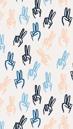 'Peace Girl' print free iphone wallpaper download!