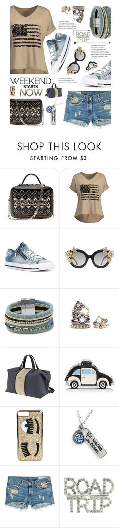 """""""Actually The Weekend Started Hours Ago, But As Usual She Overslept"""" by sharee64 ❤ liked on Polyvore featuring Diesel, Alice + Olivia, Design Lab, Ferrari, Kate Spade, Chiara Ferragni, Chart Metal Works and rag & bone"""