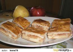 Jablka s pudinkem zabalená v listovém těstě recept - TopRecepty.cz French Toast, Treats, Breakfast, Sweet, Recipes, Food, Sweet Like Candy, Morning Coffee, Candy