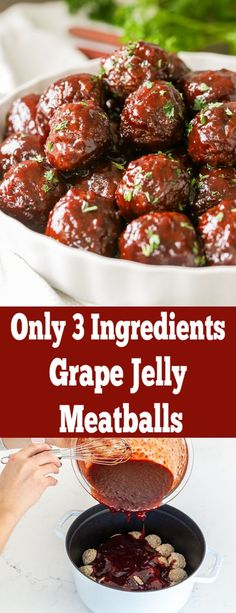 Make Grape Jelly meat balls with just 3 ingredients! The best gameday appetizer or the perfect one for Holidays! Make Grape Jelly meat balls with just 3 ingredients! The best gameday appetizer or the perfect one for Holidays! Game Day Appetizers, Quick Appetizers, Appetizer Recipes, Grape Jelly Meatballs, Jelly Recipes, Keto, 3 Ingredients, Clean Eating Snacks, Holiday Recipes
