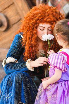 Merida and a little Punzie Disney Dream, Disney Love, Disney Magic, Disney Fairies, Disney And Dreamworks, Disney Pixar, Merida Disney, Disney Parks, Walt Disney World