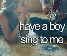 Have a boy sing to me