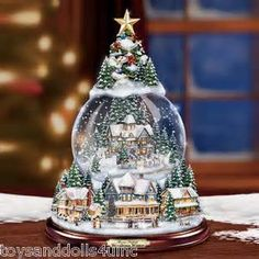 thomas kinkade snow globe snowball christmas snow globes christmas time white christmas - Christmas Musical Snow Globes