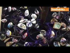 Deniz taşlarından takı yapan sanatçı
