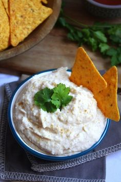 Garlicky White Bean Hummus! Full of protein to help you ward off mid-day snacking hunger & garlic to help you ward off vampires.