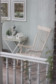 .porch rocker. maybe put a railing around front porch