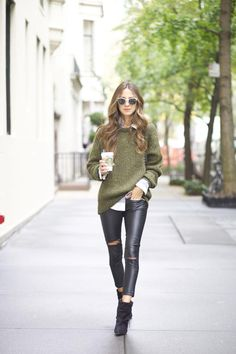 Knitwear fashion trend: The one Arielle Nachami is wearing is from Zara