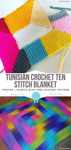 Most current Photo Tunisian Crochet afghan Concepts Tunisian Crochet Ten Stitch Blanket Free Crochet Pattern Tunisian Crochet Blanket, Tunisian Crochet Patterns, Baby Blanket Crochet, Knitting Patterns, Crochet Blankets, Afghan Patterns, Knitting Projects, Hat Patterns, Baby Blankets