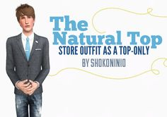 Natural Suit as a Top and Three Pocket Suit as a Top at Hey Love - Sims 3 Finds