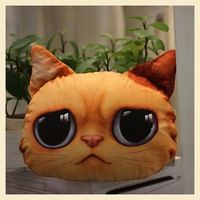 Description : ------------- Cute Cat Face Pillow With Core Adorable design cushion with soft texture! Perfect for gift and home decoration! Filling: PP Cotton. Funny Pillows, Dog Pillows, Mochila Crochet, Cute Cat Face, Cat Pillow, Throw Pillow, Funny Cats And Dogs, Fluffy Cat, Decorative Pillow Covers