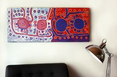 Mary Napangardi Gallagher, Mina Mina Jukurrpa, 107x46cm $650 Delivered (AUS) #aboriginalart #indigenousart #art #painting #artark