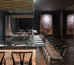 Discover the wide range of Restaurants and Bars at the Conquistador. Japanese Restaurant Interior, Restaurant Interior Design, Hibachi Restaurant, Cafe Restaurant, Conquistador, Teppanyaki Restaurants, Counter Design, Bar Lounge, Decoration