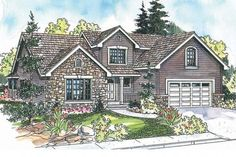 Country House plan - Radbourne 30-562 - Front Elevation