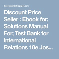 Contemporary international relations frameworks for understanding discount price seller ebook for solutions manual for test bank for international relations fandeluxe Images