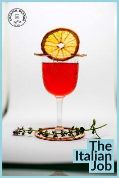 The Italian Job, Alcoholic Drinks, Cocktails, Wine Glass, Tableware, Food, Craft Cocktails, Dinnerware, Tablewares