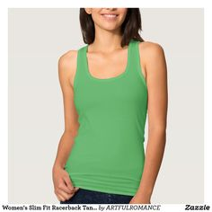 Women's Slim Fit Racerback Tank Top  10 COLORS