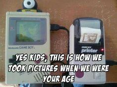 Selfie kids nostalgia game boy parenting game boy printer g rated - 7806041088 Game Boy, 90s Childhood, Childhood Memories, Video Game Memes, Video Games, Family Humor, Gaming Memes, 90s Kids, Funny Games