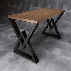 "Письменный стол ""Diamond 2"" Welded Furniture, Cute Furniture, Loft Furniture, Building Furniture, Small Furniture, Woodworking Furniture, Industrial Furniture, Table Furniture, Vintage Furniture"