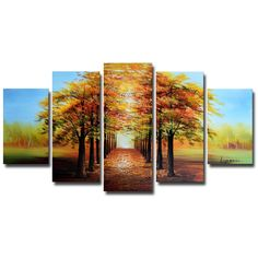 - Description - Why Accent Canvas? This exquisite Nature's Path Landscape Canvas Wall Art Oil Painting is 100% hand-painted on canvas by one of our master artists. Each artists begins with a blank can