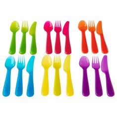 These are the best kids' utensils, AND the cheapest at $1.99  KALAS 18-piece flatware set - IKEA