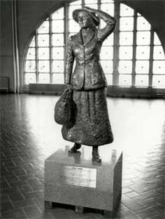 Annie Moore a 14 year old Irish girl was the first passenger registered at Ellis Island January 1, 1892 which was also her 15 birthday. She was from county Cork Ireland