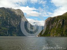Milford Sound New Zealand from on board a pleasure boat