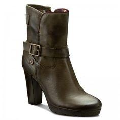 Magasított cipő TOMMY HILFIGER - DENIM Clarisa  Military Green