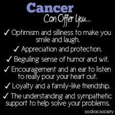 Cancer can offer you…