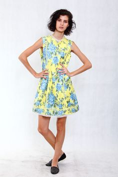 PINK-TAG EYE CATCHY YELLOW FLORAL #yellow #dress #sexy #buy