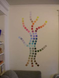 Paint Chip Wall Art. Say you have an empty wall and an empty wallet.instructables.com