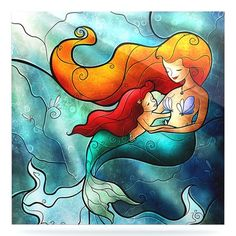 "East Urban Home Mermaid 'I Remember Love' Graphic Art Print on Metal Size: 10"" H x 10"" W x 1"" D"