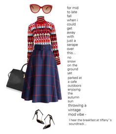 """""""what i want this fall no. 4"""" by bananya ❤ liked on Polyvore featuring Yves Saint Laurent, Jonathan Saunders, Chicwish, Christian Louboutin, Bling Jewelry and Chloé"""