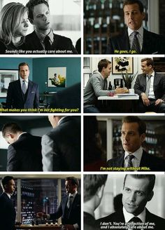 Harvey Mike family oh And in if Harvey goes Donna is going too Serie Suits, Suits Tv Series, Suits Tv Shows, Suits Show, Donna Suits, Suits Harvey And Donna, Tv Show Quotes, Movie Quotes, Mike Suits