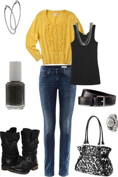 """pop of yellow"" by sassymel75 on Polyvore"